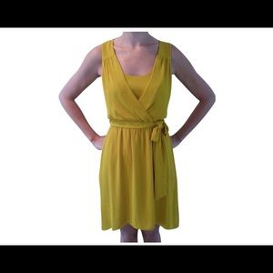 Express Mustard Yellow Cocktail Dress